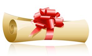 Presentkorts rulle